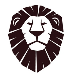 Lion head emblem vector