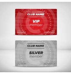 Member card templates vector