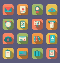 modern flat icons of web design objects business vector image