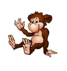Monkey in cartoon style vector