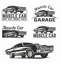 Muscle car logo emblem vector image