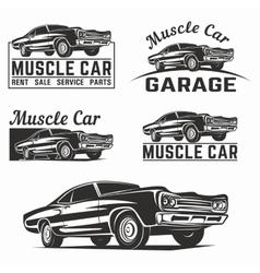 Muscle car logo emblem vector