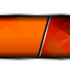 Orange background template design vector