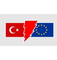 Politic relationship european union and turkey vector