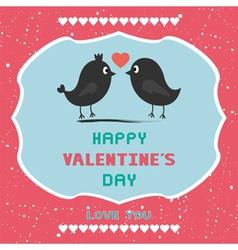 Romantic card40 vector image vector image