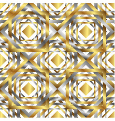 seamless overlapping golden and silver elements vector image vector image