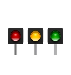 Single aspect traffic lights vector