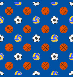 sport balls seamless pattern vector image vector image