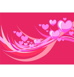 stylized hearts vector image