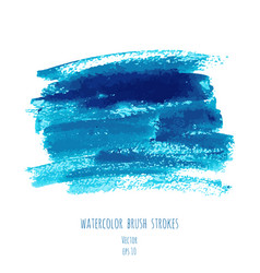 Turquoise blue indigo watercolor texture vector