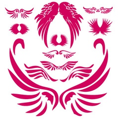 Wings Digital Clipart 2 vector image