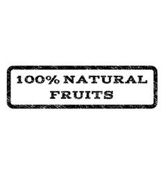 100 percent natural fruits watermark stamp vector image