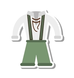 German traditional male costume vector