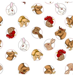 Domestic animals pattern vector