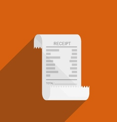 Receipt bill icon flat design vector