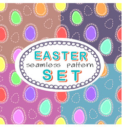 Seamless easter pattern set with four patterns vector