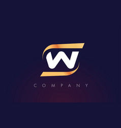 W letter logo design modern letter template vector