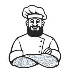 Hipster chef icon vector