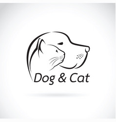 Dog and cat on white background pet vector