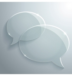 Abstract glass speech bubbles vector