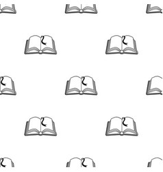 Book with bookmark icon in black style isolated on vector