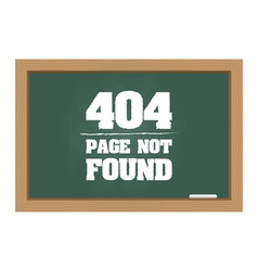404 error message on chalkboard vector image vector image