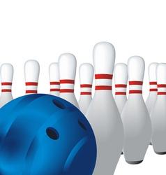 ten pin bowling vector image
