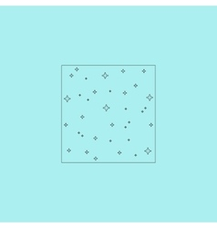 Pattern made with stars in square vector