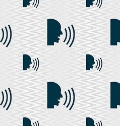 Talking flat modern web icon seamless pattern with vector