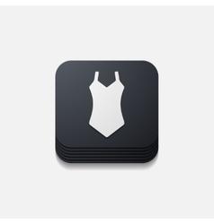 Square button swimsuit vector