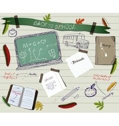 Back to school scrapbooking poster2 vector