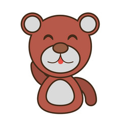 Bear baby animal funny image vector