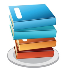 books plate vector image vector image