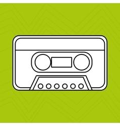 cassette tape design vector image
