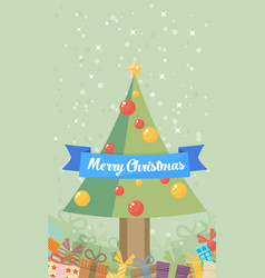 christmas vintage greeting card vector image