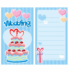Decorative wedding invitation card vector