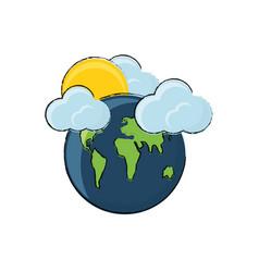 earth planet design concept vector image