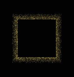 glitter frame template for banner card vector image