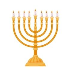 Hanukkah menorah isolated on white vector