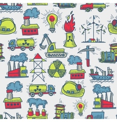 Industrial sketch seamless pattern vector