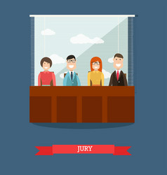 Jury in flat style vector