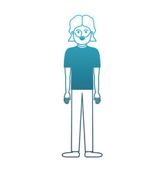 man full body with t-shirt and pants and shoes vector image