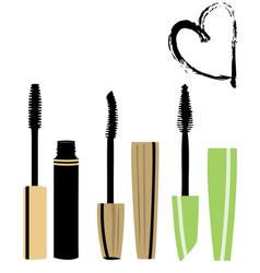 Mascara brushes vector