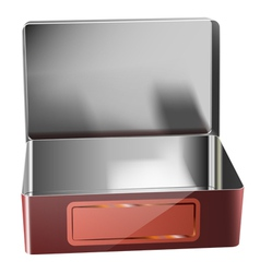metal container vector image