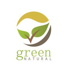 natural green leaf logo vector image