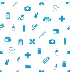 Pharmacy seamless pattern vector