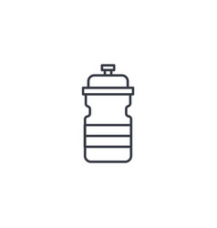 sport water bottle thin line icon linear vector image vector image