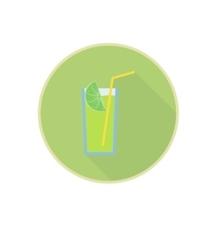 symbol of fresh green lemon juice cocktail vector image