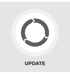 Update icon flat vector image