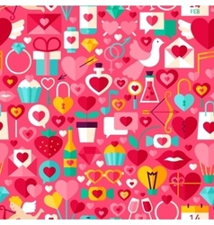 Valentines day pink seamless pattern vector